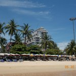 Pattaya Discovery Beach Hotel from the beach