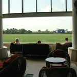 Bar area overlooking the main polo field