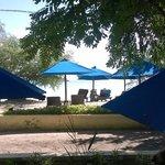 La spiaggia fronte albergo