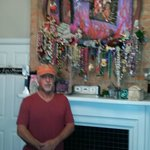 Pat's shrine and artwork