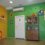 hall d'entrée + armoire à produit d'hygiène