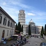 Leaning Tower view from the side