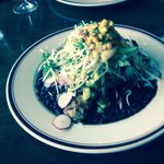 Grouper on black beans is to die for!