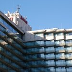 The closeup of hotel as seen from Danube