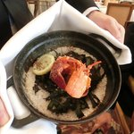 """Lobster baked in sea salt and seaweed to preserve the """"ocean"""" flavour"""