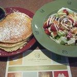 Ricotta & Lemon pancakes and Fruit Salad