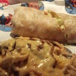 Surf n Turf Po Boy wrapped with Tex Cajun Fries