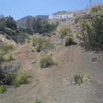 Hollywood Sign from behind BATCAVE in Griffith Park Hollywood-Land