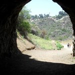 Coming out of the BATCAVE in Griffith Park