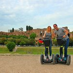 Rolling Rome Segway Tour - Palatine Hill at the back