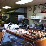 The kitchen and bakery counter