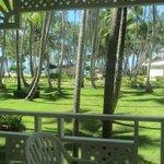 Hermosos jardines y la playa