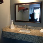 Newly Renovated Bathroom with Granite Counters