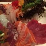 Tasty sashimi...check out the uni!