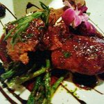 Jacaranda's Crispy Duck with Blackberry Sauce and Asparagus