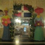 Noche Dominicana, entrada al Restaurant Buffet