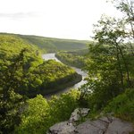 An upriver view from the bluff at ECCE