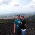 Us on Mt. Etna