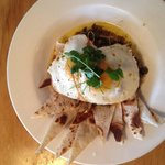 Fried eggs with cumin and lemon butter.