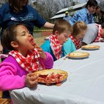 This young lady won our pie eating contest!