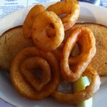 Grilled cheese & onion rings - very yummie!