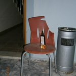 Our friend Charlie the chair with his sun oil