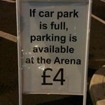 During busy periods you might have to pay when you can't get parked at Valley Centertainment