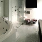 Huge jacuzzi in bathroom