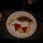 Dessert lors d'un de nos souper à l'hôtel