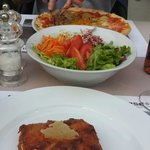 Lasagne...delicious! With mixed fresh salad.