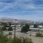 Hotel half way to the left. Laughlin in background and surrounding Neighborhood