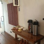 Lobby area - complimentary tea station