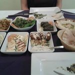 Light Mezze - well presented, tasty and very filling.