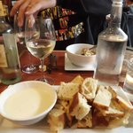 Champagne and 3 Cheese Fondue