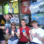 My family and I enjoying SHAVE ICE!