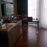 Desk & coffee corner