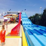 One of the slides in the water park