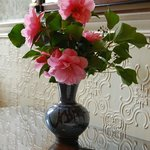 Fresh flowers in the entrance hall.