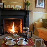 Coffee and home made shortbread to welcome our guests.