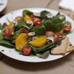 Ensalada de Naranja, boquerones y espinacas