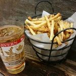 Fries and a beer