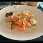 légumes croquants et terrine de poissons