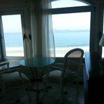 Esta era a nossa vista da praia