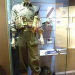 Inside museum, one of the uniforms