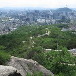 Views of Seoul from Inwangsan mountain