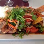 Thai Snapper. Don't let it scare you. It's bursting with flavor!