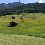 The chairlift across the street