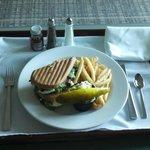 Room Service caprese sandwich