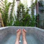 Relaxing Outdoor Bathroom