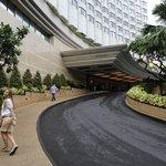 La entrada al hotel imponente!